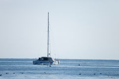 The Sailboat on the Sea Royalty Free Stock Images