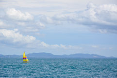 Sailboat in the sea, sea background. Sailboat in the sea with blue sky, sea background Royalty Free Stock Photo
