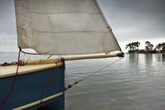 Sailboat on the sea Royalty Free Stock Photos