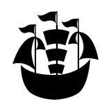 Sailboat ship isolated icon Royalty Free Stock Photos