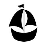 Sailboat ship isolated icon Stock Photography