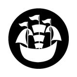 Sailboat ship isolated icon Royalty Free Stock Image