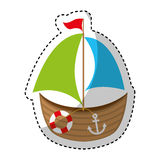 Sailboat ship isolated icon Stock Image