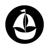 Sailboat ship isolated icon Royalty Free Stock Images