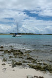 Sailboat on Shoal Bay West, Anguilla, British West Indies, BWI, Caribbean Royalty Free Stock Photo