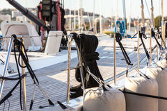 Sailboat Side and Deck Stock Photography