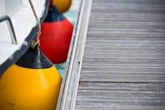 Sailboat Side Fenders CloseUp Stock Image