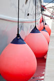 Sailboat Side Fenders CloseUp Royalty Free Stock Photo