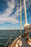 Sailboat in the smaller sea. Of Murcia. Spain stock images