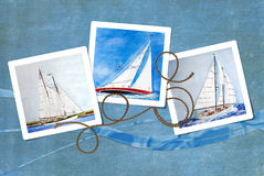 Sailboat Snapshots stock illustration