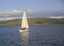 Sailboat on Sound of Mull, Scotland, UK Royalty Free Stock Image