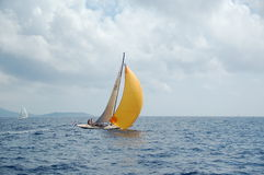 Sailboat in south of France Royalty Free Stock Photos