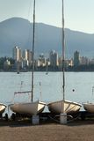 Sailboat Storage, English Bay, Vancouver Royalty Free Stock Photography