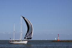 Sailboat in the summer Royalty Free Stock Photo