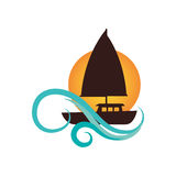 Sailboat summer isolated icon Royalty Free Stock Photos