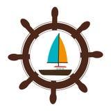 Sailboat summer isolated icon Royalty Free Stock Photo