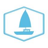 Sailboat summer isolated icon Royalty Free Stock Image