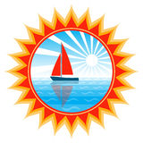 Sailboat in sun Royalty Free Stock Images