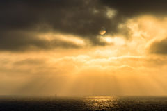 Sunbeams on the ocean Royalty Free Stock Photos