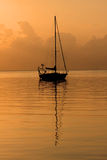 Sailboat sunrise. Sailboat in Saint Petersburg Florida at sunraise Royalty Free Stock Photography