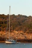 Sailboat At Sunrise - Giannutri Island, Italy Royalty Free Stock Image