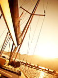 Sailboat on sunset Royalty Free Stock Photos