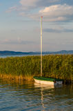 Sailboat in the sunset Royalty Free Stock Image