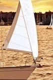 Sailboat at sunset Royalty Free Stock Images