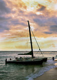 Sailboat at Sunset. Royalty Free Stock Image