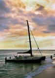 Sailboat at Sunset. Royalty Free Stock Image