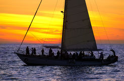 Free Sailboat Sunset Party People Stock Photography - 82367452