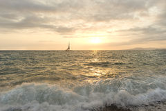 Sailboat Sunset Royalty Free Stock Images