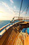 Sailboat at sunset Royalty Free Stock Photography