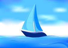 Sailboat symbol Royalty Free Stock Photos