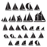 Sailboat symbol set. Royalty Free Stock Images