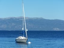 Sailboat on Tahoe Royalty Free Stock Photos