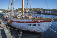 The sailboat taifun Royalty Free Stock Image