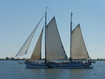 Sailboat taking a trip from Volendam to Marken in North Holland (The Netherlands) Stock Photo