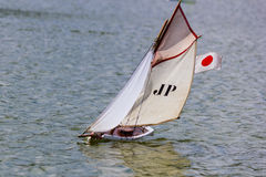Sailboat in thumbnail Royalty Free Stock Images
