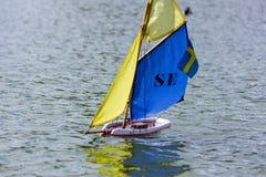 Sailboat in thumbnail Stock Image