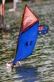 Sailboat in thumbnail Royalty Free Stock Photography