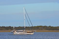 Sailboat on Tolomoto Rive Stock Photo