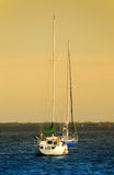 Sailboat in twilight Royalty Free Stock Photos