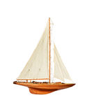 Sailboat under the white isolated background Stock Images