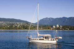 Sailboat in Vancouver, BC Stock Photos