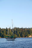 Sailboat in Vashon Island harbor Stock Images