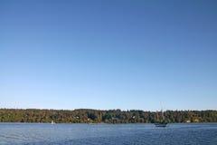 Sailboat in Vashon Island harbor Royalty Free Stock Photos