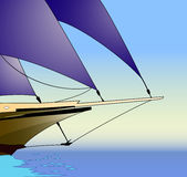 Sailboat, vector illustration. Sailboat, vessel traveling in open waters, vector illustration Royalty Free Stock Images