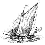 Sailboat vector illustration Royalty Free Stock Photography