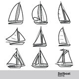 Sailboat vector Stock Image